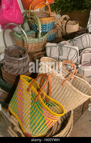 Craft shop, Cambados, Pontevedra province, Region of Galicia, Spain, Europe - Stock Photo