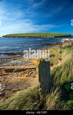 The Brough of Birsay tidal island off the North West coast of Mainland Orkney, Scotland, UK - Stock Photo