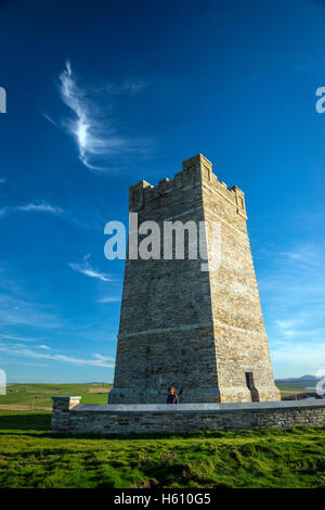 The Kitchener Memorial Tower on the cliffs at Marwick Head, Mainland Orkney, Scotland, UK - Stock Photo