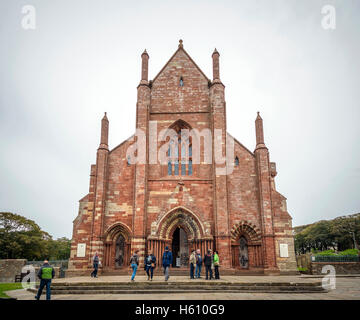 Saint Magnus Cathedral in Kirkwall, Mainland Orkney, Scotland, UK - Stock Photo