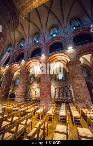 The interior of Saint Magnus Cathedral in Kirkwall, Mainland Orkney, Scotland, UK - Stock Photo