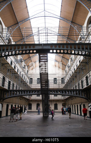 Inside of Kilmainham Gaol prison in Dublin, Ireland - Stock Photo