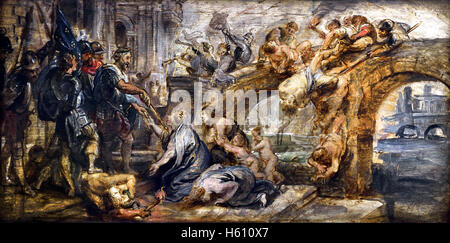 The Taking of Paris by Henry IV France French 1628 by Peter Paul Rubens (1577–1640)  Flemish Belgian Belgium( Henry - Stock Photo