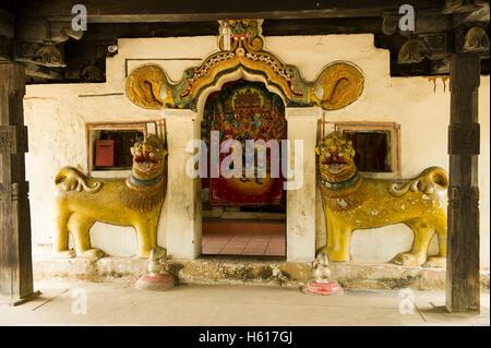 Embekke Devale Temple, Kandy, Sri Lanka - Stock Photo