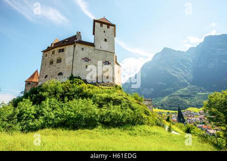 Gutenberg castle in Liechtenstein - Stock Photo