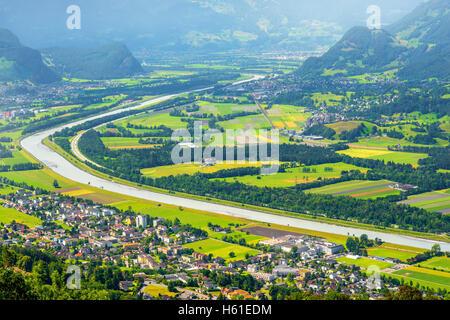 Aerial view on Liechtenstein - Stock Photo