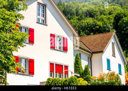 Houses in Liechtestein - Stock Photo