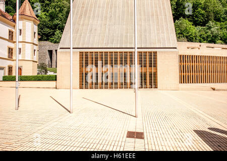 Parliament building in Liechtenstein - Stock Photo