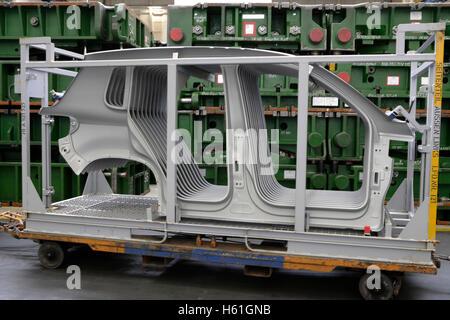 Golf car production, VW plant in Wolfsburg, Lower Saxony - Stock Photo
