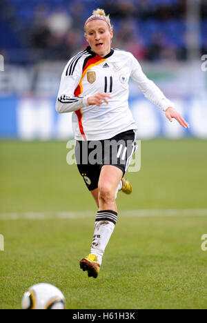 Anja Mittag, women's international football match Germany - North Korea 3-0 at the MSV Arena in Duisburg, North - Stock Photo