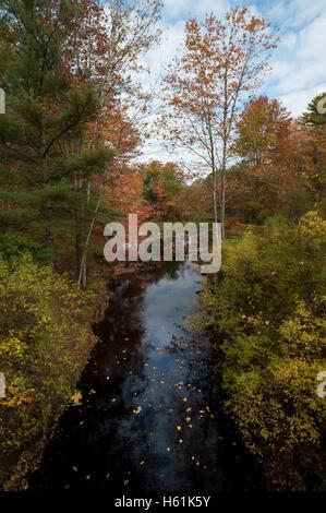 Water reflections Bristol Maine USA - Stock Photo