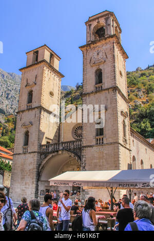 CATHEDRAL OF ST. TRYPHON, KOTOR, MONTENEGRO - CIRCA AUGUST, 2016. Dedicated in 1166 and houses the remains of St. - Stock Photo