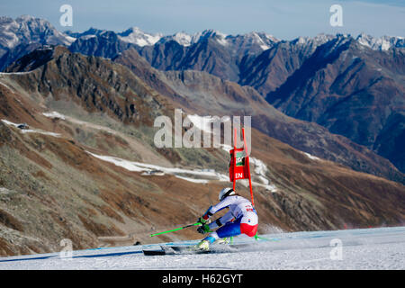 Solden, Austria. 23rd Oct, 2016. Sandro Jenal of Switzerland competes during the first run of the FIS World Cup - Stock Photo