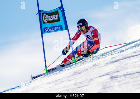Solden, Austria. 23rd Oct, 2016. Ted Ligety of USA competes during the first run of the FIS World Cup Men's Giant - Stock Photo