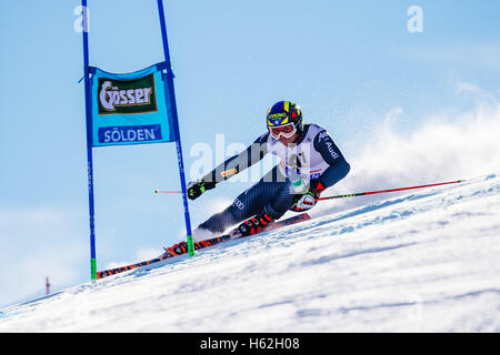 Solden, Austria. 23rd Oct, 2016. Roberto Nani of Italy competes during the first run of the FIS World Cup Men's - Stock Photo