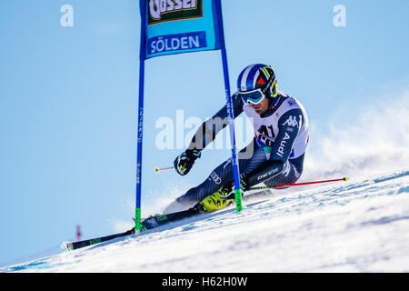 Solden, Austria. 23rd Oct, 2016. Manfred Moelgg of Italy competes during the first run of the FIS World Cup Men's - Stock Photo