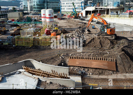 The construction of the WestQuay Watermark development in Southampton city centre in Hampshire, England, UK 23rd - Stock Photo