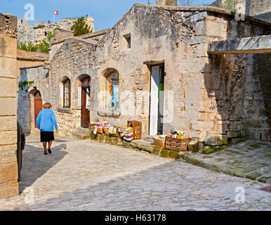 LES BAUX-DE-PROVENCE, FRANCE - MAY 4, 2013: The souvenir shop in one of the most picturesque villages and famous - Stock Photo