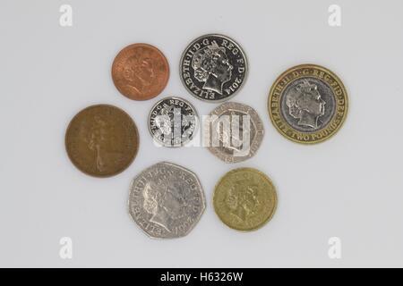 British coins. - Stock Photo