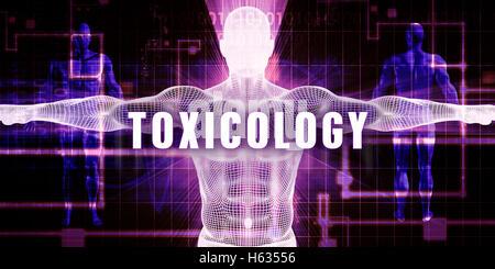 Toxicology as a Digital Technology Medical Concept Art - Stock Photo