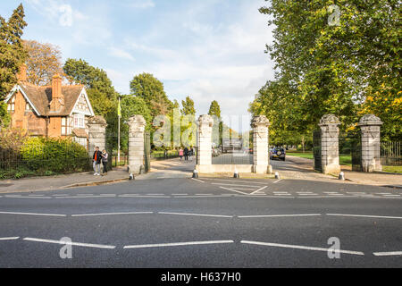 Dulwich Park, Old College Gate in Dulwich Village, Southwark, London, England, UK - Stock Photo