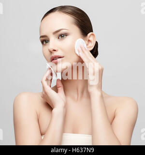 Beautiful Woman with Clean Fresh Skin - Stock Photo