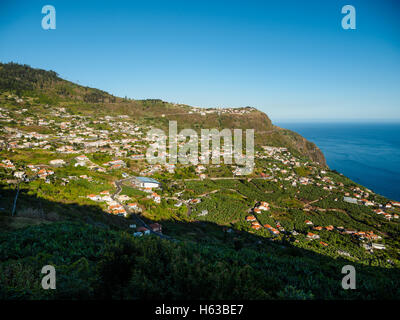 The village of Arco da Calheta on the Portuguese island of Madeira - Stock Photo