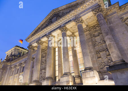 Famous Reichstag building, seat of the German Parliament , Berlin Mitte district, Germany. - Stock Photo