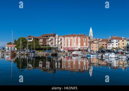 Old Mediterranean town of Izola, Slovenia - Stock Photo