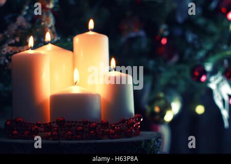candle decor toned ball - Stock Photo
