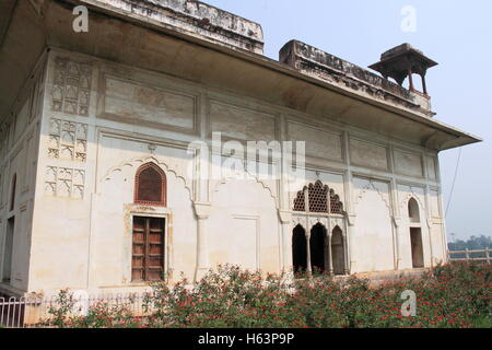 Rang Mahal, Red Fort, Old Delhi, India, Indian subcontinent, South Asia - Stock Photo