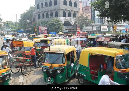 Netaji Subhash Marg, Old Delhi, India, Indian subcontinent, South Asia - Stock Photo