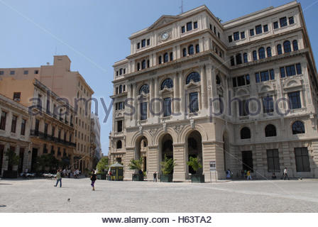 Lonja del Comercio or Stock Exchange building designed in Spanish Renaissance style in Old Havana, Cuba. This eclectic - Stock Photo