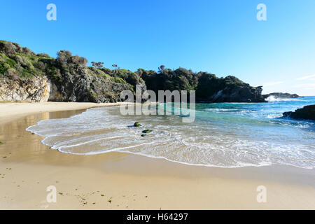 North end of Surf Beach, Narooma, New South Wales, NSW, Australia - Stock Photo