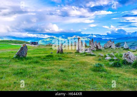 The prehistoric archaeological site  of Zorats Karer, located among the highlands, is the best place to enjoy the nature