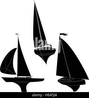 yacht vector illustration artvork - Stock Photo