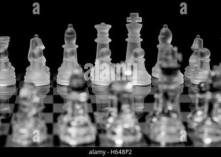 Chess, made of glass - Stock Photo