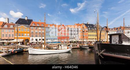 Denmark, Copenhagen, Nyhavn, canal - Stock Photo