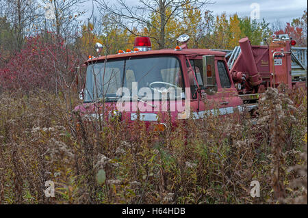 Abandoned fire truck - Stock Photo
