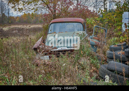 Abandoned Chevy van - Stock Photo