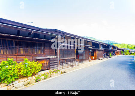 Traditional Wooden Row Houses On The Hilly Streets Of St