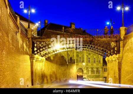 Liars bridge in Sibiu, Romania - Stock Photo