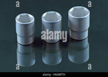Three sockets with reflection. - Stock Photo