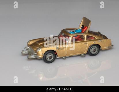 Best Christmas Present ever. Corgi James Bond Aston Martin DB5 - Stock Photo