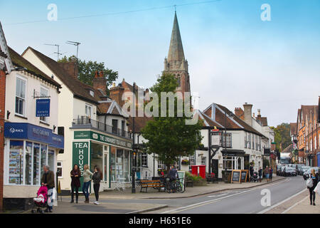 Lyndhurst,  large village and civil parish situated in the New Forest National Park in Hampshire, England, United - Stock Photo