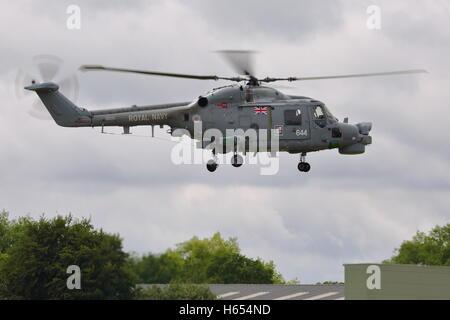 Royal Navy helicopter Westland Lynx HMA.8 ZD257 at Biggin Hill Air Show 2014 - Stock Photo