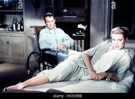 Rear Window, aka: Das Fenster zum Hof, USA 1954, Regie: Alfred Hitchcock, Darsteller: Grace Kelly, James Stewart - Stock Photo