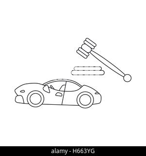 Auction cars icon, outline style - Stock Photo