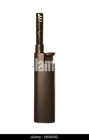 gas lighter isolated on white background - Stock Photo