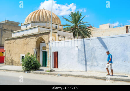 The small mosque with the ribbed dome in the old town - Stock Photo